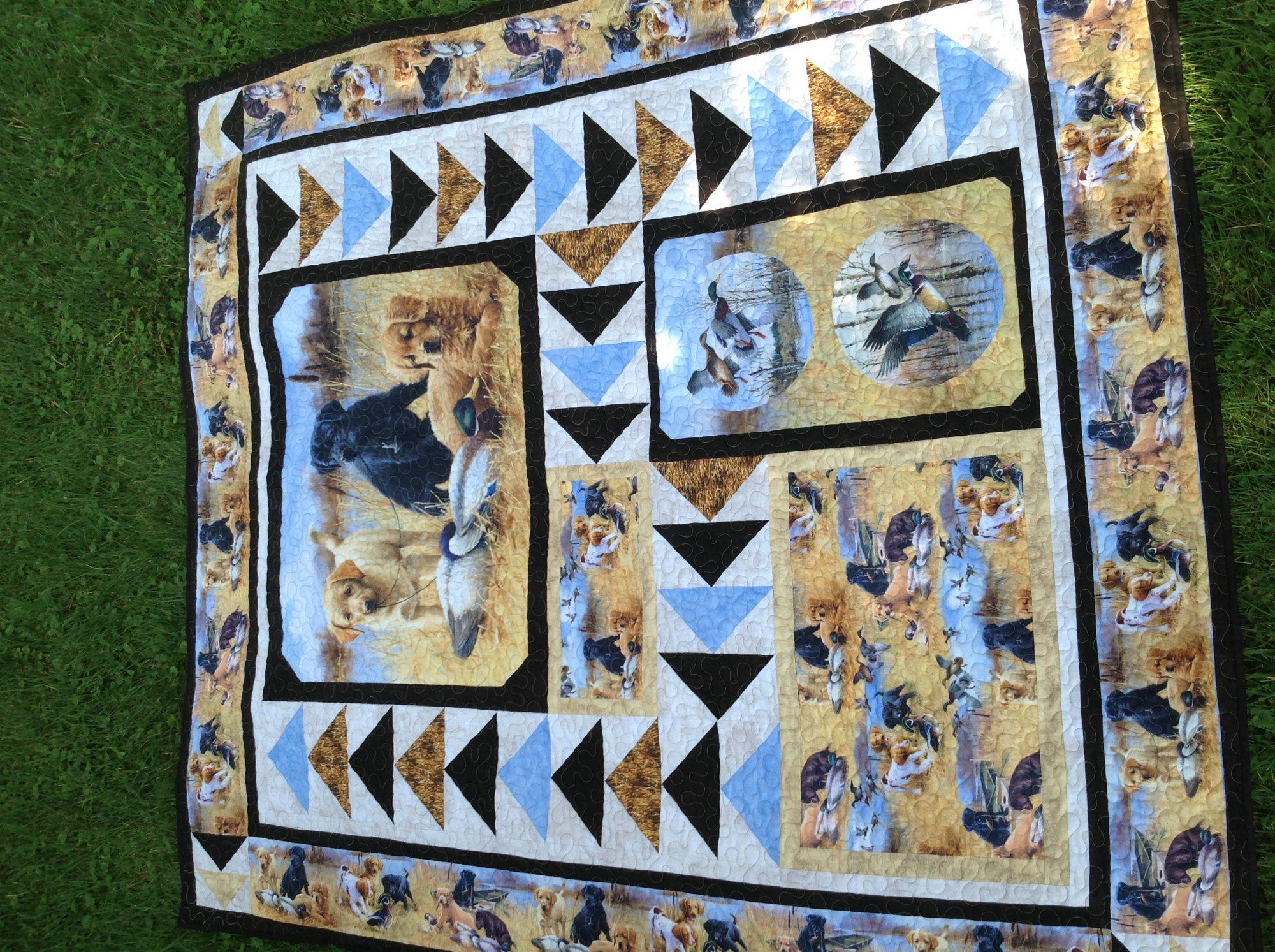 Faithful Friends Lap Quilt 65 x 73