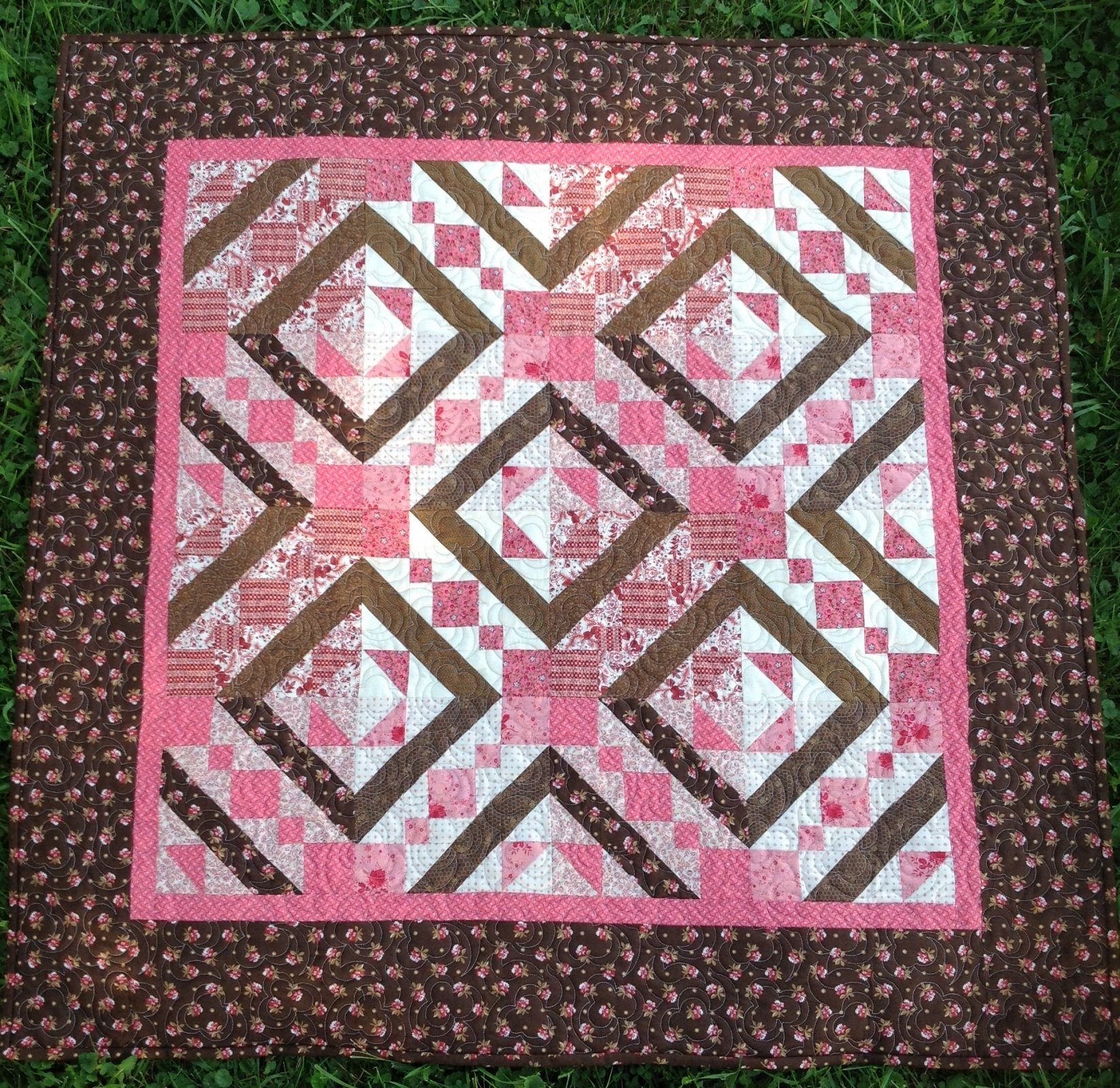 Pink/Brown Wallhanging 43x44