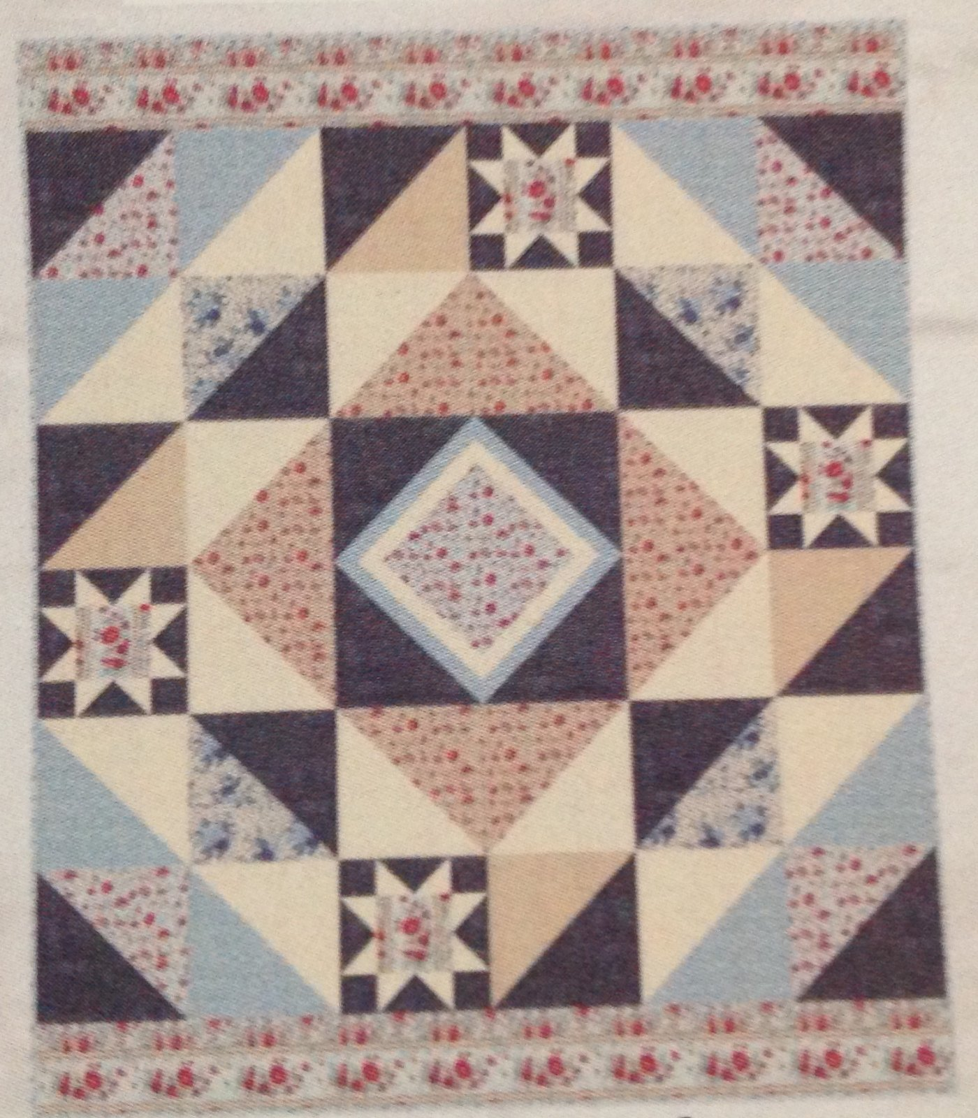 French General Nantucket Blue Version 72x86