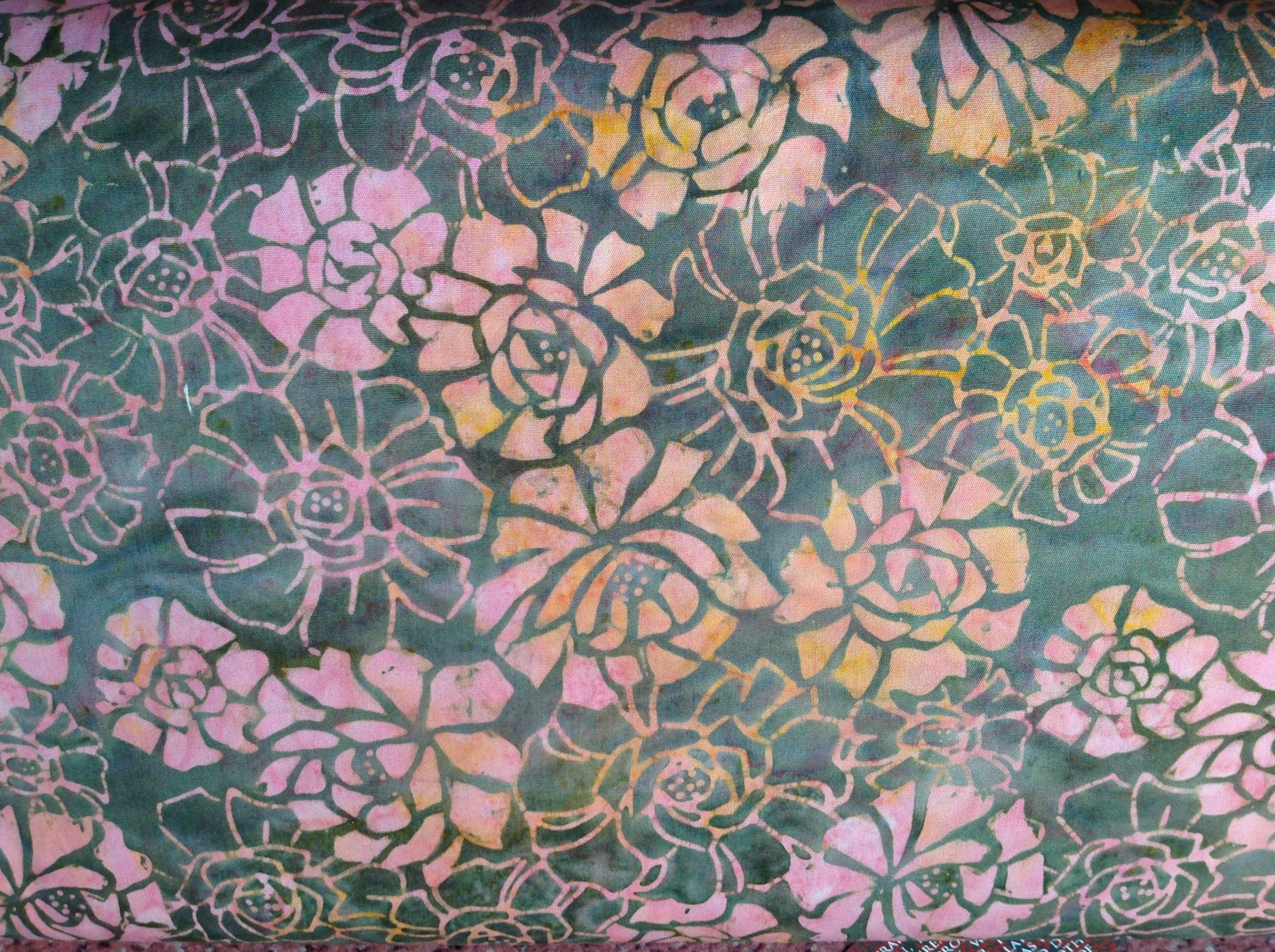 Olive Blooming Flower Batik