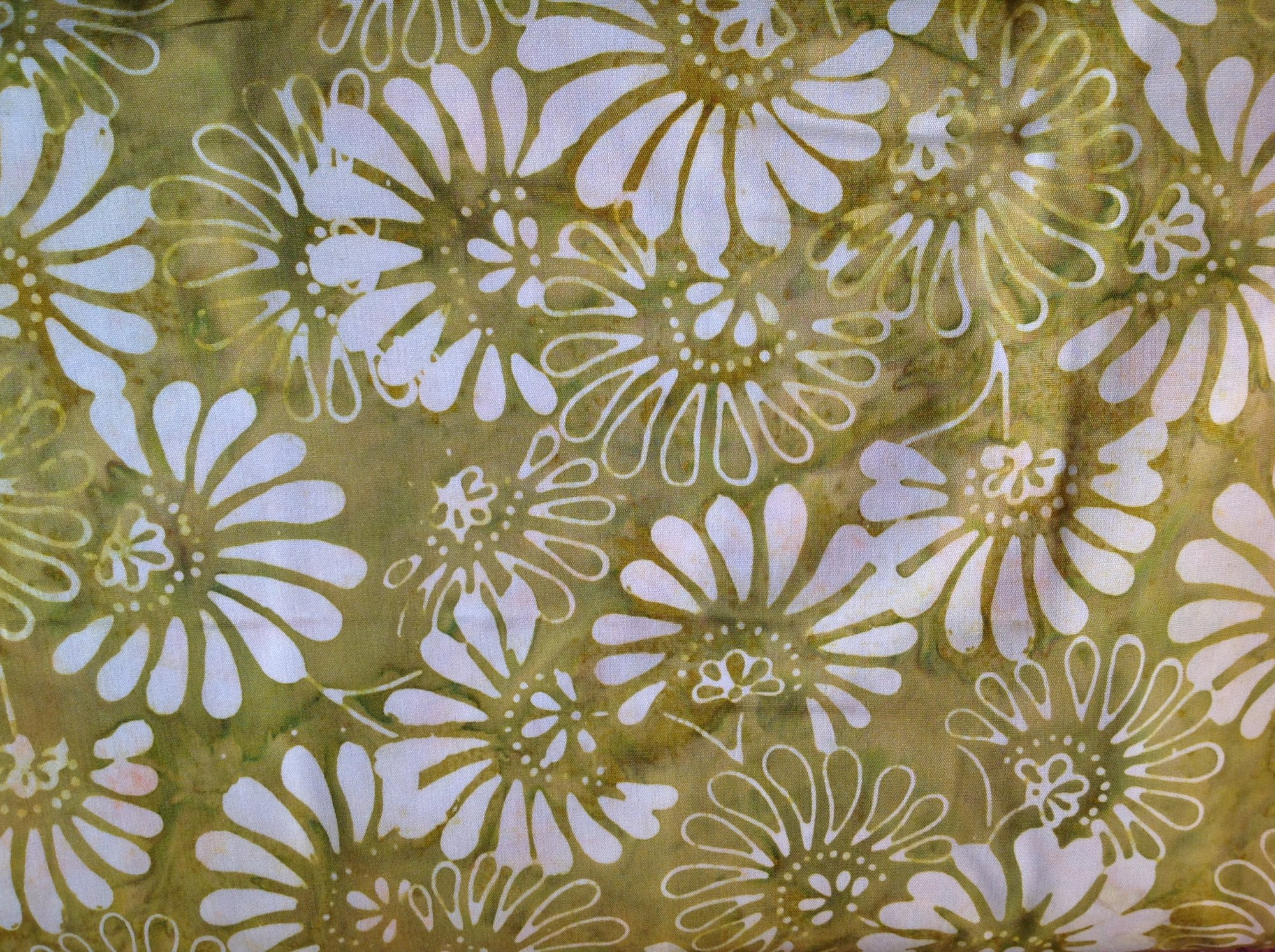 Yellow/Green Floral Fan Batik
