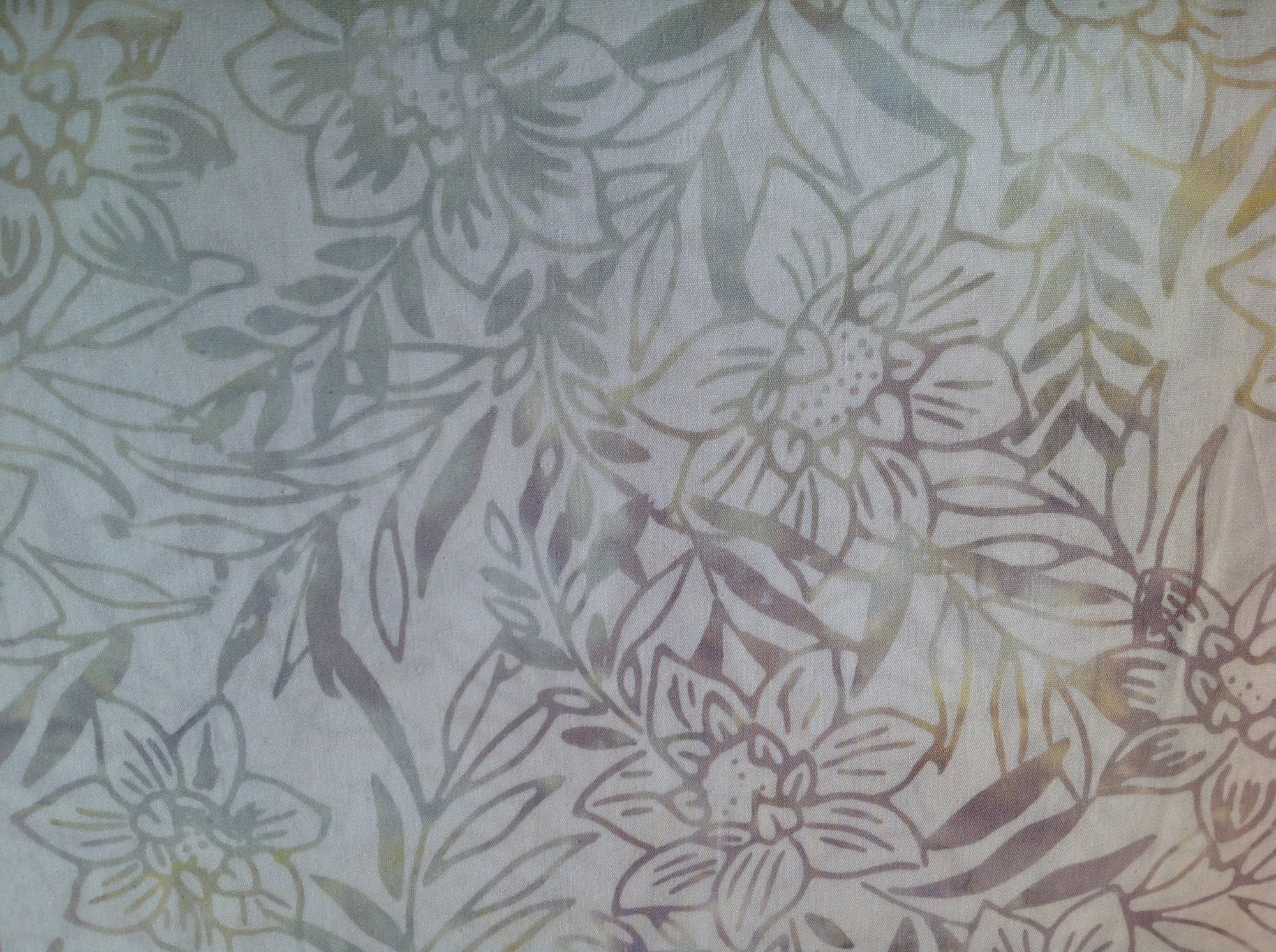 White Tropical Flower Batik