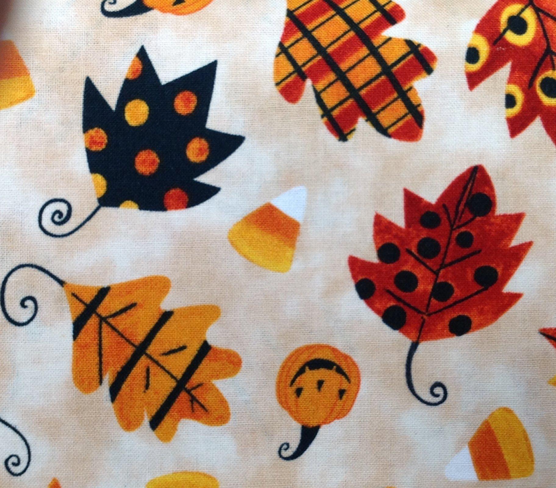 Too Cute Too Spook - Leaves on Cream