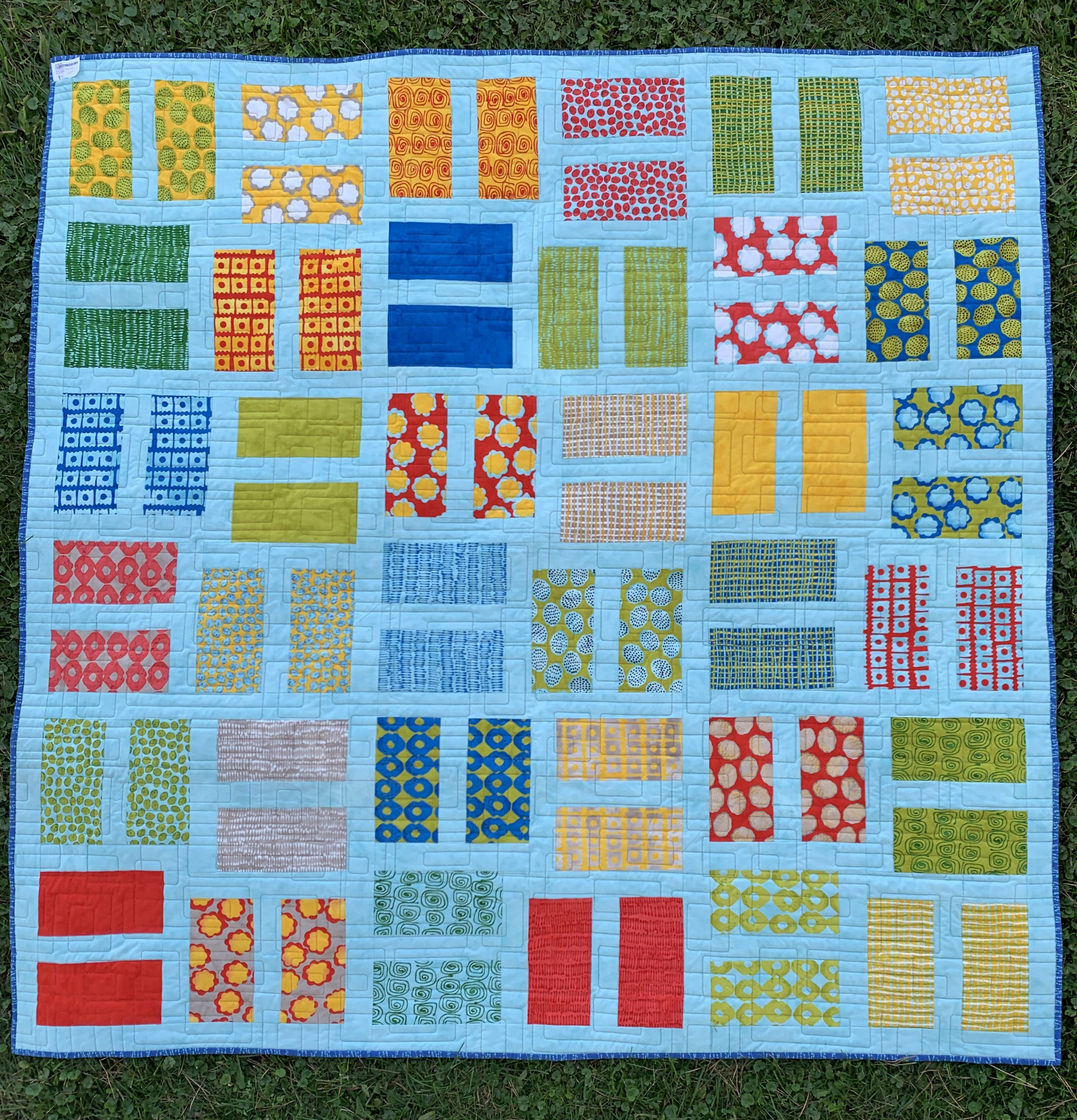 Bright Layer Quilt 72x72