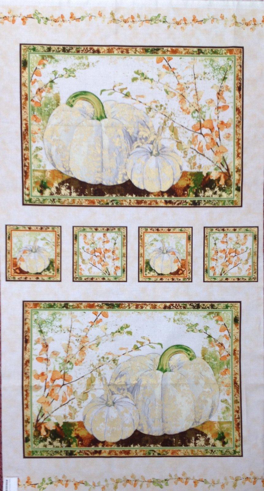 Autumn Shimmer Pumpkin Panel