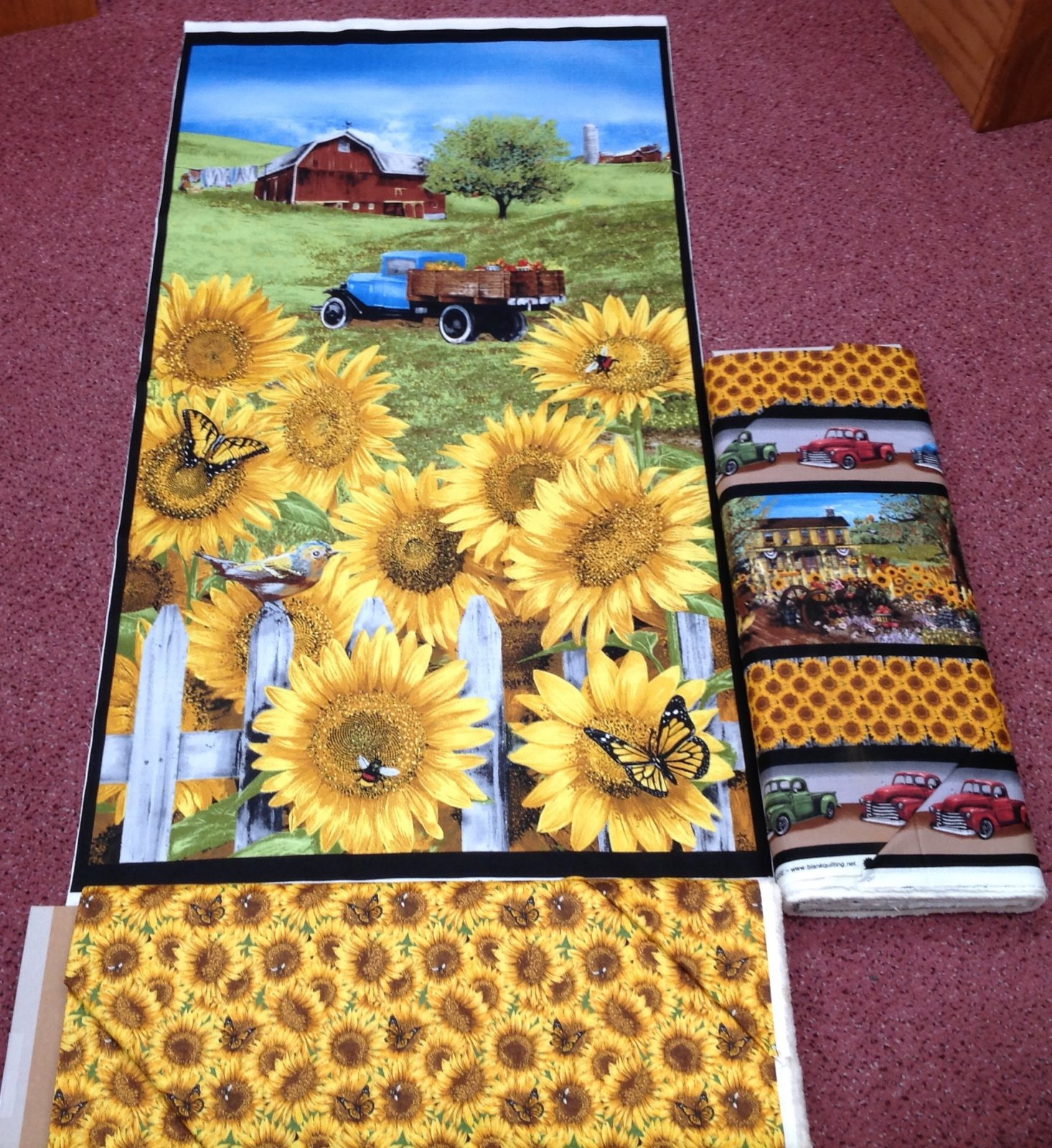 Country Paradise - Sunflower Panel