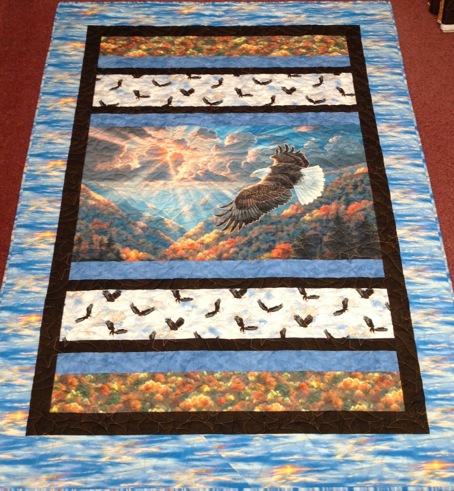 Honor Eagle Quilt 56 x 74