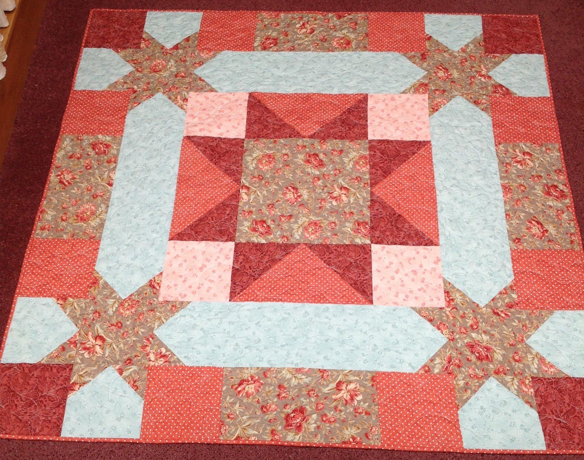 Floral Star Quilt 66x66