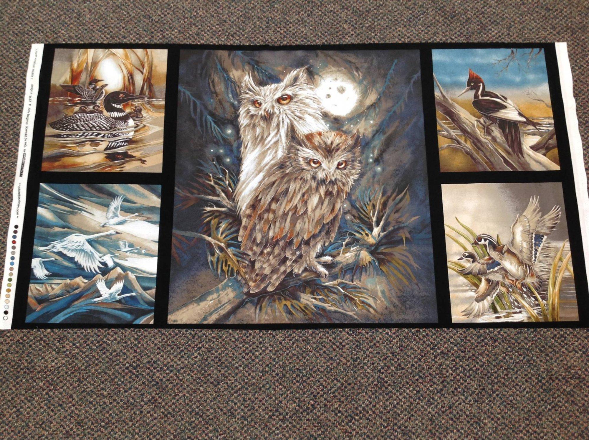 North American Wildlife Owl Panel