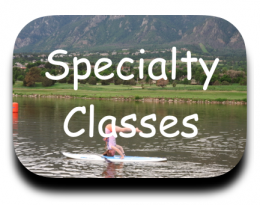 Specialty Classes SUP Yoga Pup on SUP