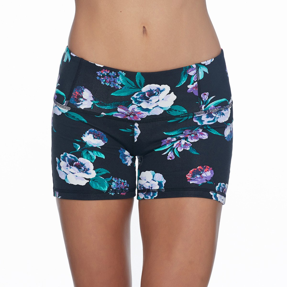 Flower Print Get Shorty Shorts