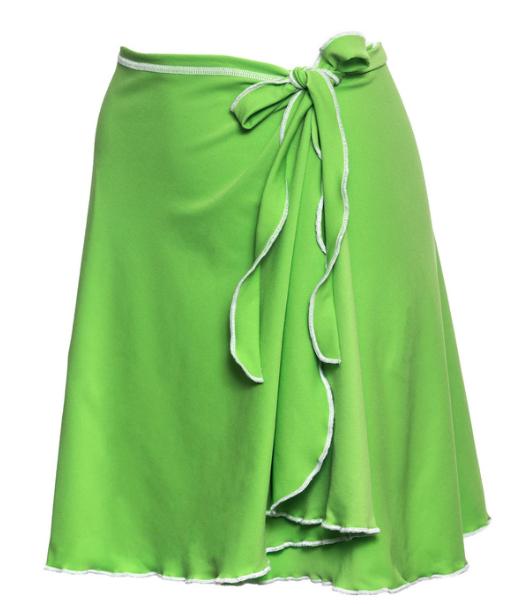 Bold Babe Wrap Skirt Green