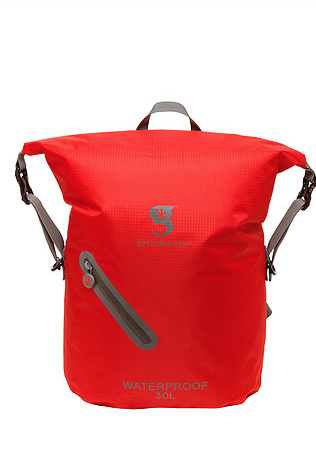 Gecko 30L Waterproof Lightweight Backpack Red/Grey