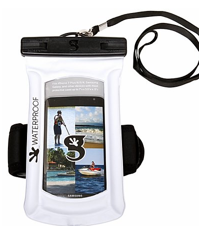 Waterproof & Floating Gecko Phone Case w/Arm Band