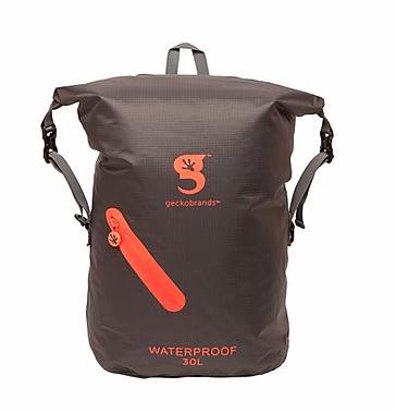 Gecko 30L  Waterproof Lightweight Backpack Grey/Orange