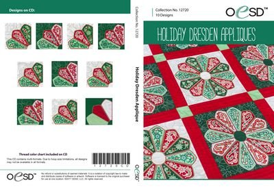 Holiday Dresden Applique Embroidery CD by OESD