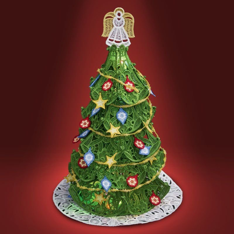 Free Standing Christmas Tree w/Ornaments Embroidery CD by OESD