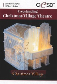 Free Standing Christmas Village Theatre Embroidery CD by OESD