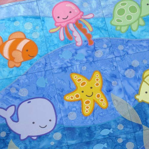 Aquatic Adventurs Tiling Scene Embroidery CD for OESD