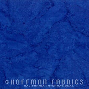 Bali Watercolors Fat Quarter - Cobalt from 1895 Batiks by Hoffman Fabrics