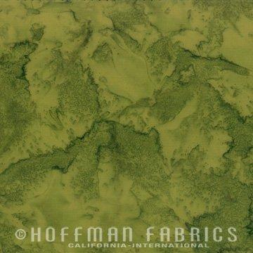Bali Watercolors Fat Quarter - Fern from 1895 Batiks by Hoffman Fabrics