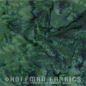 Bali Watercolors Fat Quarter - Rosemary from 1895 Batiks by Hoffman Fabrics