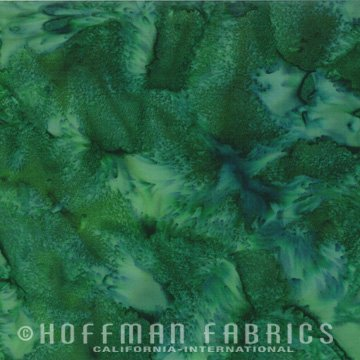 Bali Watercolors Fat Quarter - Aventurine from 1895 Batiks by Hoffman Fabrics