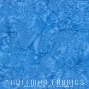 Bali Watercolors Fat Quarter - Atlantic from 1895 Batiks by Hoffman Fabrics