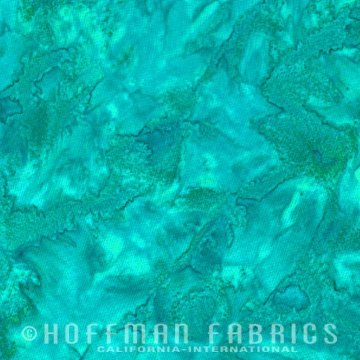 Bali Watercolors Fat Quarter - Betta Fish from 1895 Batiks by Hoffman Fabrics