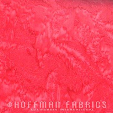 Bali Watercolors Fat Quarter - Salmon from 1895 Batiks by Hoffman Fabrics