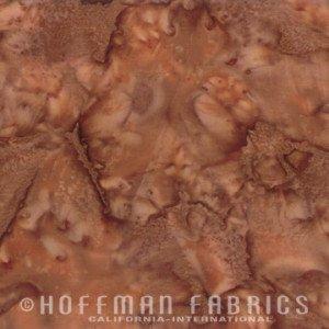 Bali Watercolors Fabric - Biscotti from 1895 Batiks by Hoffman Fabrics