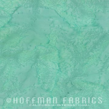 Bali Watercolors Fat Quarter - Aqua from 1895 Batiks by Hoffman Fabrics
