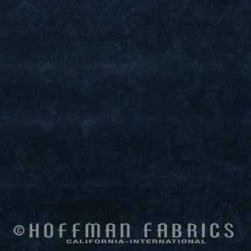 Bali Watercolors Fabric - Black from 1895 Batiks by Hoffman Fabrics