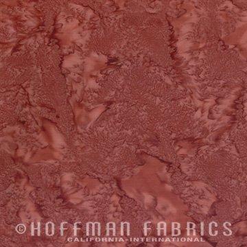 Bali Watercolors Fat Quarter - Redwood from 1895 Batiks by Hoffman Fabrics