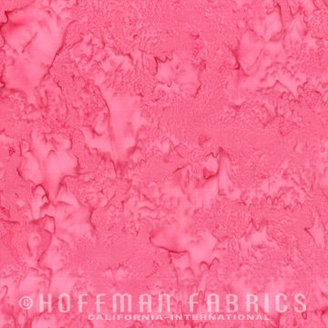 Bali Watercolors Fabric - Azalea from 1895 Batiks by Hoffman Fabrics