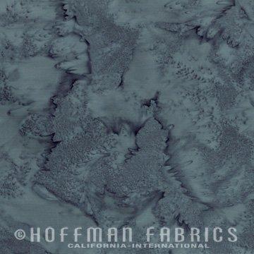 Bali Watercolors Fat Quarter - Charcoal from 1895 Batiks by Hoffman Fabrics