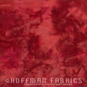 Bali Watercolors Fat Quarter - Red Velvet from 1895 Batiks by Hoffman Fabrics