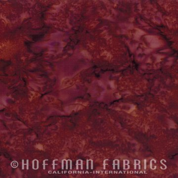Bali Watercolors Fabric - Barbeque from 1895 Batiks by Hoffman Fabrics