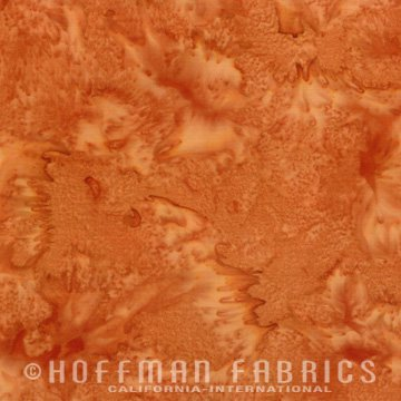 Bali Watercolors Fabric - Bourbon from 1895 Batiks by Hoffman Fabrics