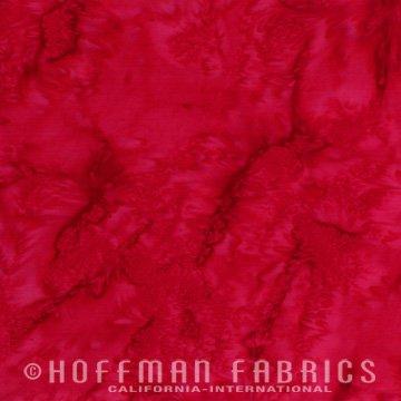 Bali Watercolors Fat Quarter - Red from 1895 Batiks by Hoffman Fabrics
