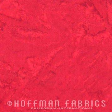 Bali Watercolors Fat Quarter - Flame from 1895 Batiks by Hoffman Fabrics