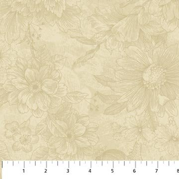 Euphoria Cream Fat Quarter Euphoria Collection by Northcott
