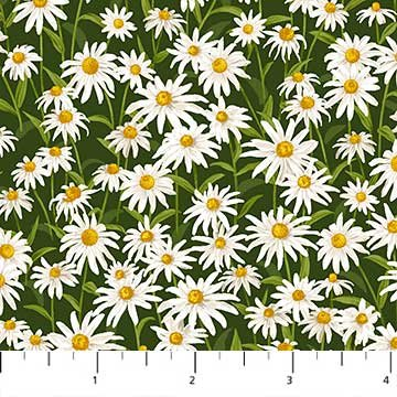 Daisies Fabric Naturescapes Collection by Northcott