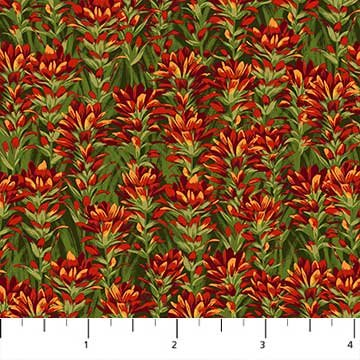 Indian Paintbrush Fabric Naturescapes Collection by Northcott