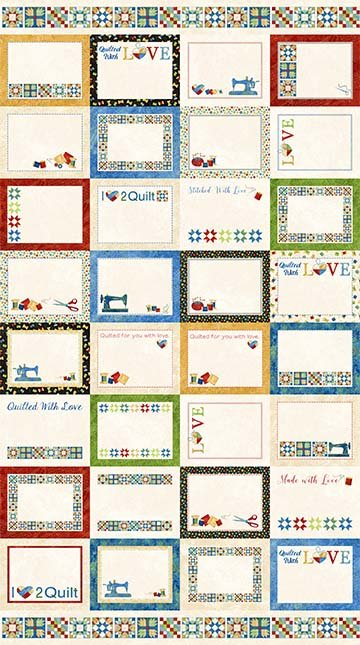 Fabric Quilt Labels Stitch in Time Collection by Northcott