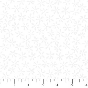 Daisy Dots Fabric - White Simple Neutral Collection by Northcott