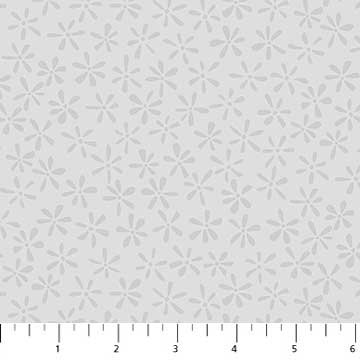 Daisy Dots Fabric - Grey Simple Neutral Collection by Northcott