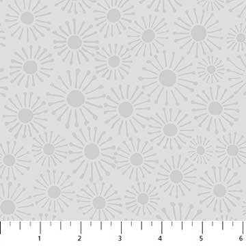 Modern Daisies Fat Quarter - Grey Simple Neutral Collection by Northcott