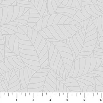 Leaves Fabric - Grey Simple Neutral Collection by Northcott