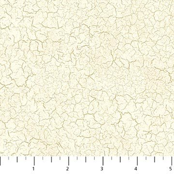 Crackled Paint Fabric - Cream Farmers Market Collection by Northcott